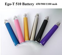eGo- T Battery 510 Thread 650 900 1100mAh E- Cigarettes EGO Ba...