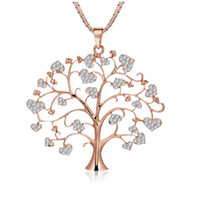 New Design Creative Sweet Heart Shaped Life Tree Pendant Nec...