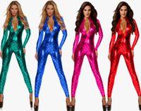 Disfraz de sirena de Pole Dance para mujer adulta, traje de cuero de Wetlook, mono de PU, traje de vinilo de PVC, traje de látex de imitación, ropa interior de clubwear