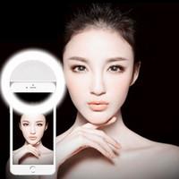 صورة شخصية LED المحمولة حلقة ملء ضوء التصوير الفوتوغرافي للهاتف أندرويد فون وشحن مجاني DHL