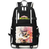 Todoroki Shoto mochila paquete Mi día académico héroe animado bolsa de la escuela de estilo casual packsack Calidad mochila mochila mochila deporte al aire libre