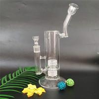 Alta qualità incredibile funzione vaso di vetro vetro rig tubo di fumo con frit disco turbina perc 10 pollici di altezza (G-186)