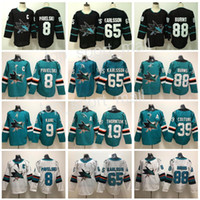 San Jose Sharks Jersey Hockey 8 Joe Pavelski 65 Erik Karlsson 19 Joe  Thornton Logan Couture 88 Brent Burns 9 Evander Kane Hertl Green Black 219d7e267