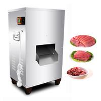 Nueva acondicionador comercial de acero inoxidable carne eléctrico precio de la máquina rebanadora multifunción máquina de cortar carne Shred máquina de cortar en cubitos