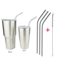 4 Pcs Stainless Steel Metal Drinking Straw Reusable Straws +...