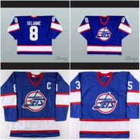 남자 Winnipeg Jets Jersey 13 Teemu Selanne 10 Dale Hawerchuk 9 Bobby Hull 16 Laurie Boschman 27 Numminen 8 Selanne Hockey Jersey