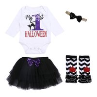 Baby Girl Clothes Halloween Kids Clothing Set Girls Letter P...