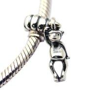 Singe Dangle Charms S925 Silver Fits pour Bracelet de style original 791097 H8