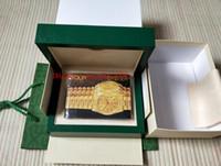 Lusso di alta qualità Green Green Watch Box originale GMT Data giorno 116610 116600 116500 Brochure Certificato regalo presente uomo donna orologi