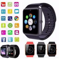 Bluetooth smart watch gt08 para apple iphone ios android telefone suporte ao desgaste do pulso de sincronização inteligente relógio sim card pk dz09 a1 (Original)