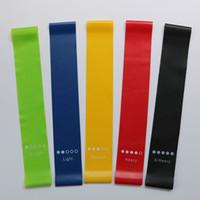 5 UNIDS Conjunto de Banda de Resistencia de fitness 5 Niveles Látex Entrenamiento de Fuerza de Goma Loops Bandas Equipo de Fitness Deportes cinturón de yoga Juguetes