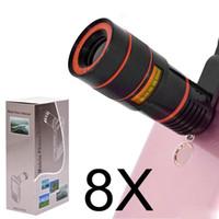 8x зум-объектив телескопа телефон объектив unniversal оптическая камера телефото телефон лен с зажимом для Iphone Samsung LG HTC Sony смартфон