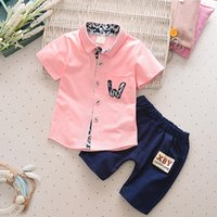 summer baby boys clothing set toddler kids cotton clothes se...