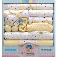Розничная или оптовая 0-1-летняя зима утолщение Детская одежда чистый хлопок новорожденный подарочная коробка новорожденный нижнее белье 18 комплектов детская одежда