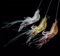 Мягкие искусственные приманки с крючками Pesca Tackle Приманки Креветки с креветками Рыбалка Плавающая Приманка в форме крючка приманки Бионическая искусственная креветка с