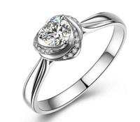 14K 화이트 골드 도금 1CT 소나 시뮬레이션 된 다이아몬드 결혼 반지 세트 여성, 실버 926 링 세트, 약속 링 세트