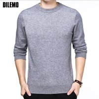 2018 New Fashion Brand Sweater For Mens Pullover Slim Fit Kn...