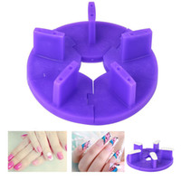 2 Colors Nail Art Practice Plastic Tip Stand for Practice Pl...
