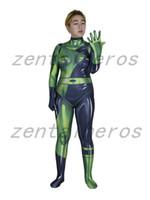 Shego van Kim Mogelijke Villain Vrouwelijke Cosplay Afdrukken Kostuum Spandex Lycra Zentai Halloween Party Pak