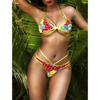 2018 New African Print Two- Pieces Bikini Set Sexy Geometric ...
