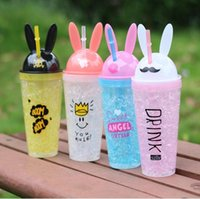 Great rabbit ear cup crushed ice cooling double cup cute str...
