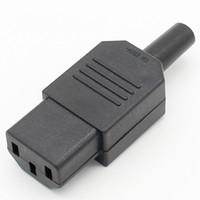 새로운 도매 가격 블랙 IEC 320 C13 여성 플러그 Rewirable 전원 커넥터 3 핀 소켓 10A / 250V