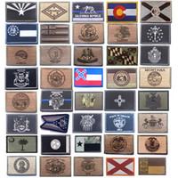 Gancio e loop Fissaggio a forma di fissaggio ricamato Adesivi Bracciali Adesivi Tactical Gli Stati Uniti Fifty States Ricamo Ricamo State State Bandiera Patch