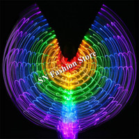BC35 Led costumes belly dance luminous led cloak wings color...
