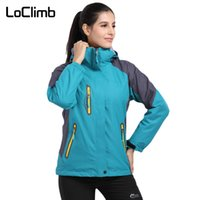 LoClimb 3 In 1 Brand Winter Hiking Jackets Women Outdoor Cam...