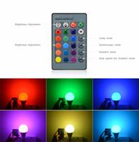 3W 10W RGB LED Stage Light E27 E14 GU10 85-265 V 110 V 220 V lampadina di notte Dimmable con telecomando Per la casa vacanze lampada spot light
