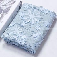 المنسوجات لفساتين 5yds./lot مع الترتر 3D الزهور أقمشة الدانتيل أرخص 4 ألوان CAF456 النسيج ماء النسيج الجاكار