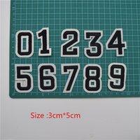 패치 문자 번호 DIY 아플리케 하이 2 ''에 세트 자수 철에 100PCS