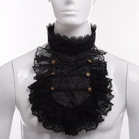 Vintage Hand Made Steampunk Victorian Royal Men Ruffle Black...