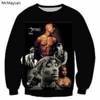 Super Cantor Rapper California Love 2pac 3D Imprimir Brasão Crewneck camisola dos homens / mulheres Outono Casacos Boy Outwear harajuku