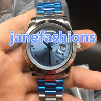 New luxury brand men' s watches silver stainless steel w...