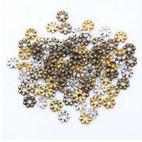 1000 قطع زهرة الخرز فاصل للمجوهرات جعل جولة ديزي عجلة سحر 4 ملليمتر التبتية الذهب والفضة الخرزة مجوهرات accessaories