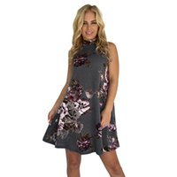 Feitong Quality Summer Dresses For Womens Floral Print Sleev...