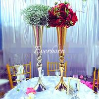 34,6 polegadas altas vaso de flor de ouro vaso vaso mariage para decoração de casamento mesa de mesa de mesa arranjo de flores