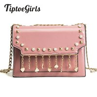 New Korean Version of the Spring Bag Simple Fashion Rivets S...