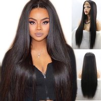 9A Hign Ponytail Lace Front Human Hair Wigs With Baby Hair S...