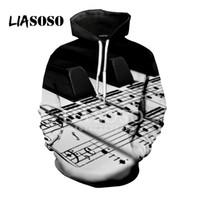 LIASOSO 2018 3D Imprimer Femmes Hommes Hoodies Sweats À Capuche Pull Harajuku Hip Hop Creative Design Classique Piano Roses X0794