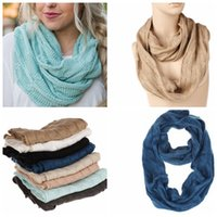 7 colori sciarpa invernale per ragazze donne acrilico caldo cerchio anello sciarpa collo sciarpa comodo colore solido sciarpe calda KKA5902