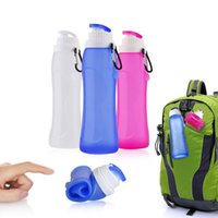 2018 foldable outdoor water Bottles 500ml food grade leafpro...