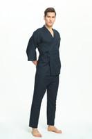 면 100 % 일본 잠옷 남성용 잠옷 남성용 잠옷 Pijamas Hombre 남성 남성 잠옷 면사 남성 잠옷 기모노 356