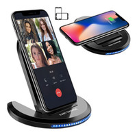 2- in- 1 Foldable Qi Wireless Charger Fast Charging Pad Stand ...