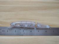 10pcs Untitled Hardbaits Blank Lure Body Jointed 2 Sezioni Minnow 5 1/2 Inch 2/3 OZ Artificiali Esche da pesca FFTOE