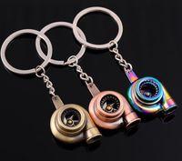 New Auto Metal Turbine Keychain Car turbo Chargeur Turbo Souffler Bagues Touches Porte-clés Pendentifs Souvenirs Mode Bijoux 10 PCS