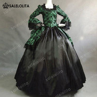 2018 Unique Marie Antonieta Renacimiento Fairytale Floral Dress Princesa Victorian Ball Gown Halloween Theatre Costume