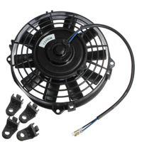 Freeshippping 8 polegadas radiador elétrico / intercooler 12V fã de resfriamento fino + kit de montagem