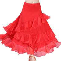 Balo Salonu Flamenko Dans Waltz Kostüm Uzun Etek Büyük Salıncak Sıkı Kemer